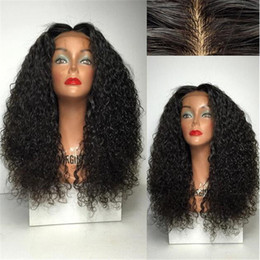 Wholesale Malaysian Curly Silk - Silk Base Lace Wigs Brazilian Human Hair Wig Full Lace or Lace Front Kinky Curly Cheap Long with Bleached Knots Baby Hair