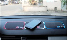 Wholesale Accessories For Car Interiors - High Quality Car Mobile Phone S line Anti-Slip Mat For AUDI A1 A3 A4 A5 A6 All Series Car Interior Accessories 1P Car Styling