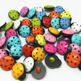 Wholesale Wholesale Ladybug Sewing Button - 1000 PCS Mixed Colors Ladybug Plastic Shank Buttons Sewing Button Notions Accessories Diy Buttons Crafts Appliques