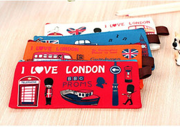 Wholesale British Cloths - Wholesale-cute cartoon Pencil Case for girls boys school stationery student kawaii pencil Bag British soldier head Oxford cloth zipper bag