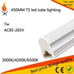 Wholesale T5 Led Light Price - Free shipping LED Fluorescent Bulbs price led integrated tube light T5 450mm 7w smd2835 25pcs lot