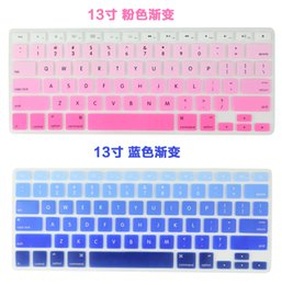 Wholesale Dustproof Macbook - 2016 Retail Silicone Keyboard Protector Skin Cover For Macbook Pro Air Mac Retina Keyboard Covers 11 12 13 15 17inch