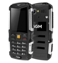 Wholesale m1 touch - AGM M1 Tri-proof phone 2.0Inch IP68 Waterproof 3G WCDMA 128MB+64MB Mobilephone 2750mAh Dual SIM Card Bluetooth Dustphone 2017 New Arrival