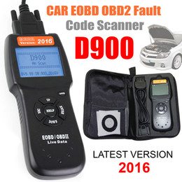 Wholesale Gm Connectors - 2016 Universal D900 Car Fault Code Reader EOBD OBD2 Scanner diagnostic scan tool