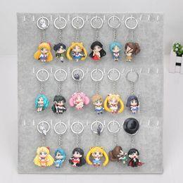 Wholesale Venus Figure - 18pcs lot Anime Sailor Moon Figure Sailor Mercury Mars Venus sailor jupiter PVC Doll Figure Keychain Xmas Gifts for Kids