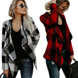 Wholesale Hooded Vests For Women - Wholesale- Christmas 4 colour Warm women basic coat 2017 winter Female plaid warm Soft plush casual Jacket autumn Jackets For Women Coat