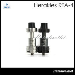 Wholesale Two E Cigarette - Sense Herakles RTA-4 tank Herakles RTA-4 Atomizer Two Post Rebuildable Deck with 4 Wide Airflow Holes E-cigarette 100% Original
