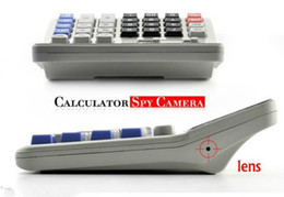 Wholesale Hidden Calculator - New Business Desk top Calculator Monitor Hidden Pinpole Counter Camera Camcorder 8GB Surveillance Video Recorder Spy DVR