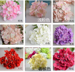 Wholesale Christmas Ornaments Flowers - Artificial Flowers Christmas party Fashion Wedding Silk Artificial Hydrangea Flowers HEAD White Diameter 15cm Home Ornament Decoration