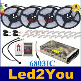 Wholesale Magic Dream Led - DC12V 5m 10m 20M 30m 150LED IP67 waterproof 6803 IC SMD 5050 RGB dream magic color LED Strip+133 Program RF controller