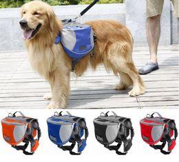 Wholesale Dog Backpack Large - Outdoor Poly Adjustable Dog Saddle Bag Oxford Large Capacity Dog Backpack Breathable Mulifunction for Travel Camping Hiking Dog Accessory