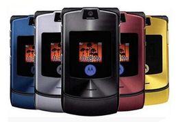 Wholesale Pink Cells - Refurbished Original Motorola Razr V3i Unlocked Cell Phone 2.2 Inch 1.3MP ATT T-Mobile 2G GSM