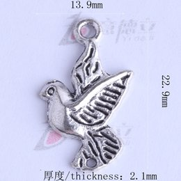Wholesale Vintage Charm Dove - Antique Silver bronze bird dove Charms DIY Vintage Pendant DIY Jewelry Making 400pcs lot 2425