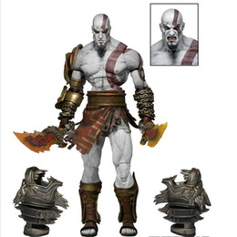 """Wholesale Ultimate Models - 22cm 9"""" NEW God of War 3 Ghost Of Sparta Kratos Ultimate PVC Action Figure doll Collectible Model Toy in box"""