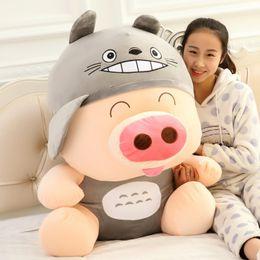 Wholesale Huge Panda Plush - Giant Huge Big high quality 90cm Shapeshifting McDull pig Stuffed Plush Panda Animal Toy 35'' 35inch Best Valentine Gift