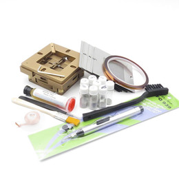 Wholesale BGA Rework Kit x90 Universal fixtures Bga Reballing Stencil Kit for Laptop Gameconsole Stencil free gifts