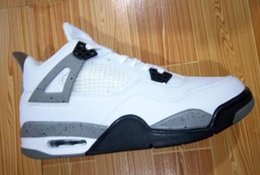 Wholesale Low Price Box Springs - White cement 4s Wholesale Air 4s DS 2016 Bred Banned Great Price Men Women Basketball Shoes sneakers With Box free shipping