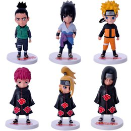 Wholesale Wholesale Naruto Action Figure Toys - 6pcs set Anime Naruto Sasuke Shikamaru Sasori Deidara Itachi Uzumaki Naruto PVC Figure Action Figures Toys Collectible Model Toy