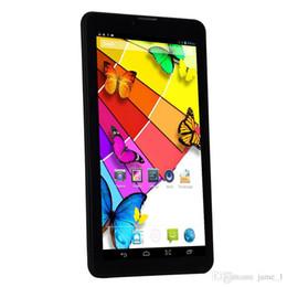 tableta china teléfono sim Rebajas 7 pulgadas 3G llamada de teléfono Tablet PC MTK6572 Dual Core Android 4.2 512MB / 4G Dual Cameras OTG