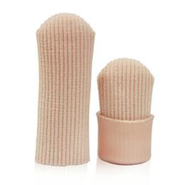 Yeni Kumaş Nervürlü Örgü Jel Ayak Parmak Kap Kapak Kollu Tüp Koruyucu 1 parça # T20 cheap tube fabric nereden tüp kumaş tedarikçiler