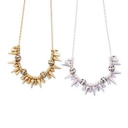 Wholesale Rivet Pendant Necklace - Hot sales kendra scott statement necklaces hip hop necklace punk rivet alloy necklaces fashion statement hip hop jewelry