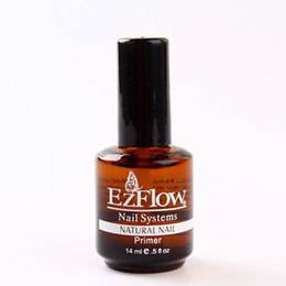 Wholesale uv color gels - primer BASE COAT 14ML Nail Art Soak Off Color for UV Gel Polish acrylics 0.5fl oz gel EZFlow Bonder