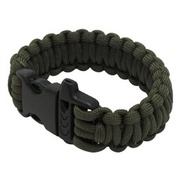 Wholesale Survival Bracelets Whistle - Multifunctional Military Paracord Bracelet Outdoor Survival Kit Parachute Cord Buckle with Whistle for Hiking Camping Emergency
