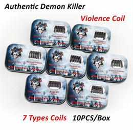 Wholesale Free Demon - Authentic Demon Killer Violence Coil Prebuilt Framed Clapton Alien Clapception Coil Spaced Clapton Tsuka Coil Tri-twisted Coils DHL Free