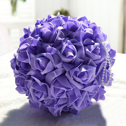 Wholesale Room Apartment - Hand Made Roses Ball-flower Hangings Wedding Room Decorations for Bride Decorate Adornment with Artificial Wedding Apartments