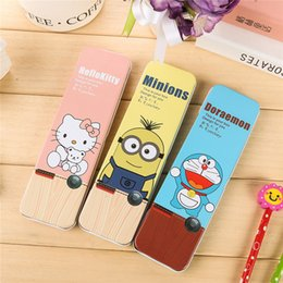 Wholesale Doraemon Pen Pencil - Wholesale-Wholesale Pencil Case Korean Stationery,Cartoon Metal Doraemon Pencil Box Creative Pen Case,Estuches School Supplies For Student