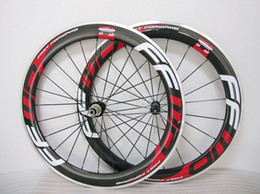 Wholesale 18 Inch Alloy Wheels - FFWD F6R Fast Forward 60mm Wheels Alloy aluminum BRAKE carbon Red Clincher Bicycle Wheels road bike carbon wheelset
