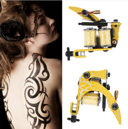 Wholesale Tatoo Motors - 2016 Hot Rotary Tattoo Machine Shader And Liner 8 Wrap Coils For Power Supply Assorted Tatoo Motor Gun Kits Supply For Artists