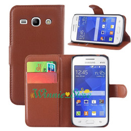 Wholesale Star Flip Case - For samsung galaxy Star 2 Plus G350E Litchi Leather Wallet ID Credit Card Holder Stand Flip Case Cover 9 colors choose