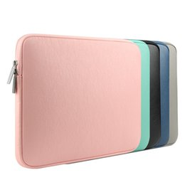 Wholesale Notebook Covers - NEW PU Leather Waterproof Laptop Sleeve Bag Protective Zipper Notebook Case Computer Cover for 11 13 15inch For Macbook Air Pro