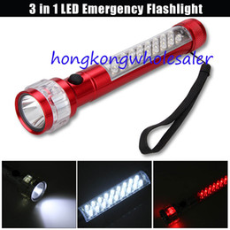 Wholesale Led Emergency Vehicle Light Wholesale - New Best Selling 3 in 1 Car Vehicle LED Emergency Flashlight w  Magnetic Button LED Torch 27 LEDs Multi-function LED Flashlight Lighting