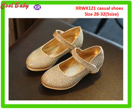 Wholesale Girls Shoes Size 32 - Autumn Paragraph Children's Shoes With High Heels Diamond Girls Princess Shoes Korean Version Foreign trade performance shoes (28-32)Size