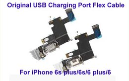Wholesale Headphone Parts - 100% NEW For iPhone 6 And 6 Plus USB Dock Charger Charging Headphone Audio Port Flex Cable Replacement Part White Gray Color