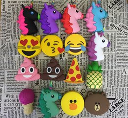 Wholesale Bank Power Iphone Cute - Cartoon Power Bank2000mA Cute Smile Face Power External Battery Portable Mobile Fast Charger Dua Lpower Bank for IPhone Andrews