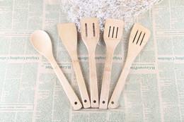 Bambu Eşyaları 5 adet Bambu Ahşap Mutfak Aletleri Eşyaları Pişirme Seti Spatula Kaşık Turner Bambu El Sanatları Bambu Ve Ahşap Pişirme Gere ... cheap crafts tools nereden el sanatları araçları tedarikçiler