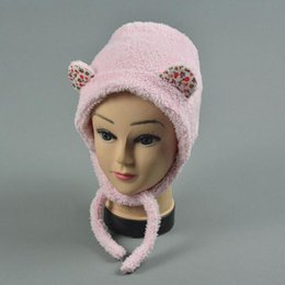 Wholesale Lamb For Baby - 3~12 Months Baby Caps Lamb Wool Beanies Cap For Girl Children's Winter Hat Z-1921