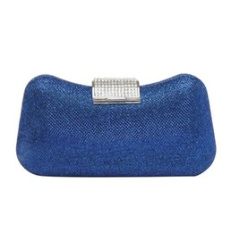 Wholesale Party Pillow - 2017 Solid Blue Hot Selling Handmade Blink Blink Diamonds Elegant Lock Hasp Chain Clutches Bridal Accessories Bridal Hand Bags