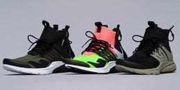 billige herren sportswear Rabatt Discount Günstige 2018 neue Sneaker Trainer Sportswear, Schwarz-Bambus Lava Olive / Cargo grün Sport Laufschuhe, Akronym Herren Mid Laufschuhe