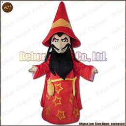 Wholesale Mascot Costumes Wizard - wizard mascot costume EMS free shipping, cheap high quality carnival party Fancy plush walking sorcerer mascot cartoon adult size.