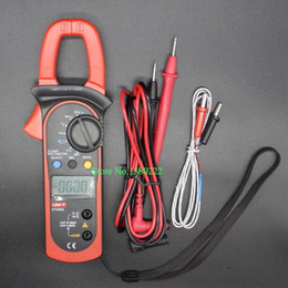 Wholesale Digital Ac Clamp Multimeter - Wholesale-Digital Handheld Clamp multimeter UNI-T UT204A professional True RMS LCD Multifuction Ohm DC AC Voltmeter AC Ammeter Data Hold