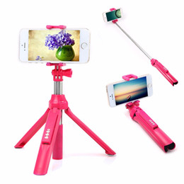Wholesale Smartphone Android Aluminum - 3in1 Wireless Bluetooth 4.0 Remote Shutter+Handheld Cellphone Selfie Stick Monopod&Tripod&Holder for IOS Android SmartPhone free shipping