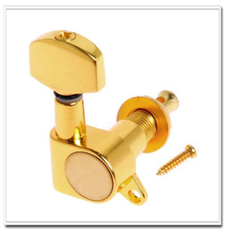 Wholesale Machine Head Guitar Gold - 1set of 6R Guitar String Tuning Pegs Tuners Machine Heads Gold