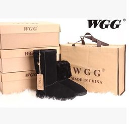 Wholesale Factory Australia - Factory HOT 2017 Classic WGG Brand Women popular Australia Genuine Leather Boots Fashion Women's Snow Boots EUR36-41