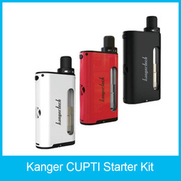 Wholesale Mouth Coil - 100% Original Kanger CUPTI Starter Kit 5.0ml Leak-free All In One Device 75W TC Mod Aio Kit Mouth to Lung Device SS316L 1.5ohm CLOCC Coils