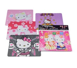 Wholesale Cartoon Rubber Mouse Pad - Hello Kitty cartoon anti-skid mouse pad heat-resistant colored mouse mat free shipping