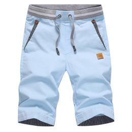 Wholesale Short Trousers - Summer Mens causal Shorts 2017 New Mens Shorts Cotton fashion Beach Short Joggers Trousers Knee Length Shorts